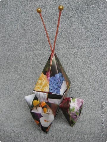 Орбитальная космическая станция. Основа - круглая коробочка, второй этаж - оригами из кругов, антенна - ватные палочки. фото 20