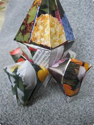 Орбитальная космическая станция. Основа - круглая коробочка, второй этаж - оригами из кругов, антенна - ватные палочки. фото 27