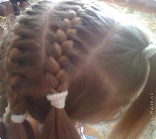 Вот решила попробовать сделать МК. И так... Делим волосы на голове на 5 частей и завязываем резнками, чтобы не мешали. фото 10