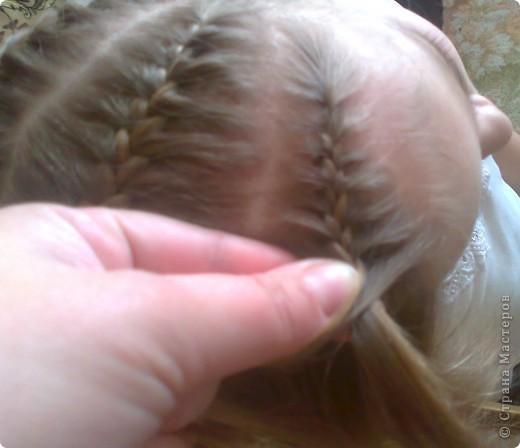 Вот решила попробовать сделать МК. И так... Делим волосы на голове на 5 частей и завязываем резнками, чтобы не мешали. фото 12