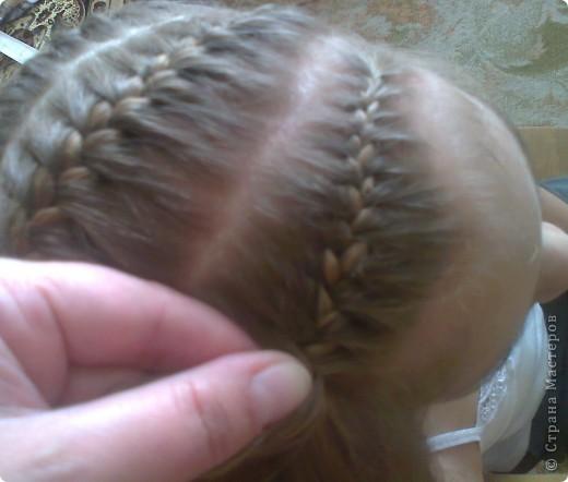 Вот решила попробовать сделать МК. И так... Делим волосы на голове на 5 частей и завязываем резнками, чтобы не мешали. фото 13
