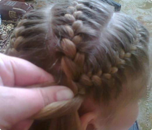 Вот решила попробовать сделать МК. И так... Делим волосы на голове на 5 частей и завязываем резнками, чтобы не мешали. фото 17