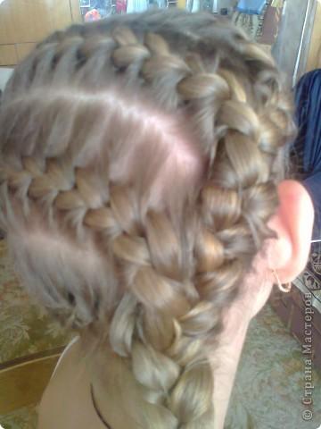 Вот решила попробовать сделать МК. И так... Делим волосы на голове на 5 частей и завязываем резнками, чтобы не мешали. фото 19