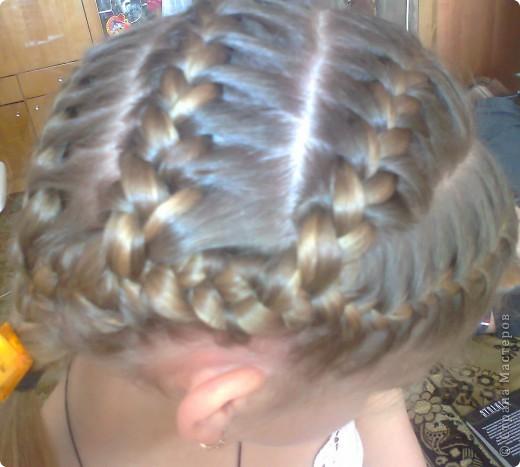 Вот решила попробовать сделать МК. И так... Делим волосы на голове на 5 частей и завязываем резнками, чтобы не мешали. фото 22