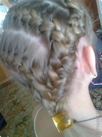 Вот решила попробовать сделать МК. И так... Делим волосы на голове на 5 частей и завязываем резнками, чтобы не мешали. фото 23