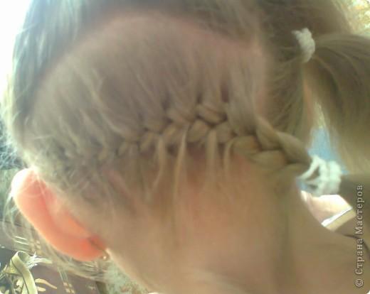 Вот решила попробовать сделать МК. И так... Делим волосы на голове на 5 частей и завязываем резнками, чтобы не мешали. фото 4