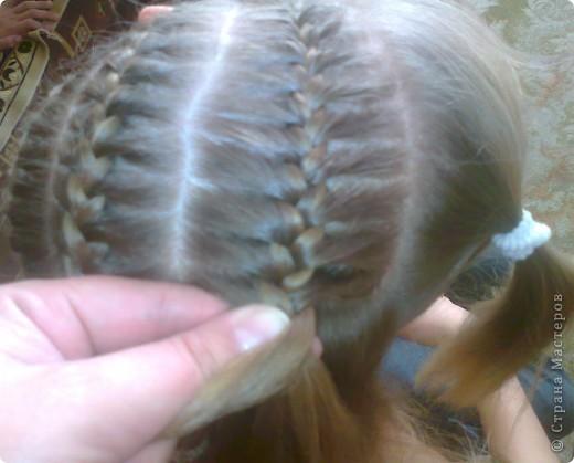 Вот решила попробовать сделать МК. И так... Делим волосы на голове на 5 частей и завязываем резнками, чтобы не мешали. фото 9