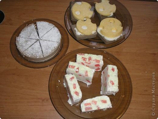 Бутерброды с сыром и маслом. Сыр:детское мыло, молоко, мёд, облепиховое масло, ЭМ апельсина. Хлеб:детское мыло, молоко, мёд, корица, натуральный кофе,БМ. фото 4