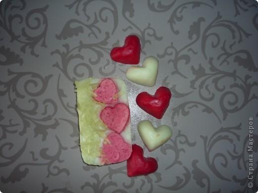 с маслом персика..и эм клубники.цвет немного не такой...сердечки не белые а нежно салатавая фото 1