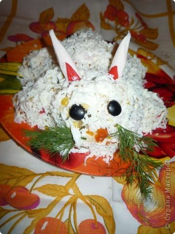 """Салатик """"Дед Мороз"""" больше всего нашему папе понравился.  фото 3"""