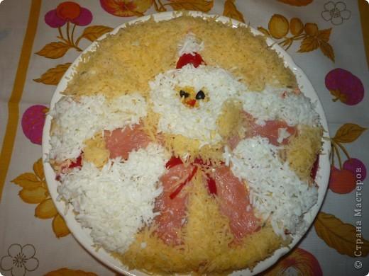 """Салатик """"Дед Мороз"""" больше всего нашему папе понравился.  фото 1"""