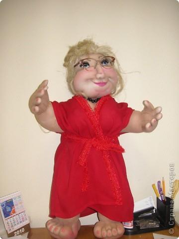 Шаржевая портретная кукла  выполнена в технике скульптурный текстиль фото 5