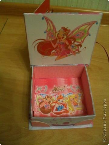 Попросила меня дочка сделать ей коробочку.... А она фанатка Winx, вот я ей и сотворила.. фото 3