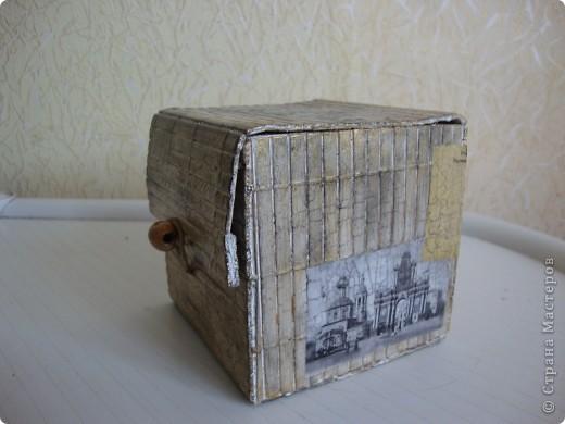 Декупажные карты под старинные фото, кракелюр. фото 3