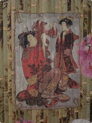 """Панно """"Япония"""": рисовая бумага, салфетки, шпагат, канат. фото 3"""