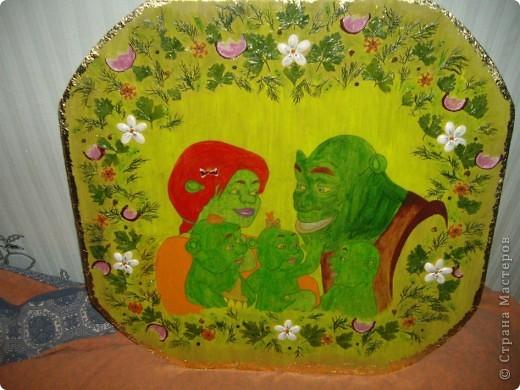 Картина с овощным орнаментом