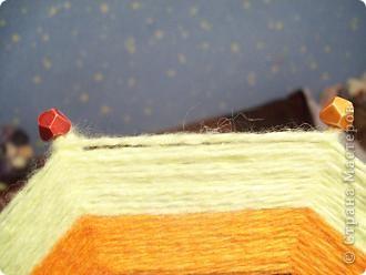ура!!!наконец то сбылась моя мечта - я сделала мандалу(Ojos de Dios) из палочек для шашлыков и остатков ниток фото 4