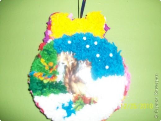 Посмотрите какие чудесные новогодние игрушки, можно сделать методом торцевания на декоративных тыковках! фото 5