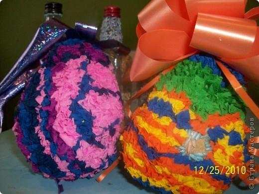 Посмотрите какие чудесные новогодние игрушки, можно сделать методом торцевания на декоративных тыковках! фото 1