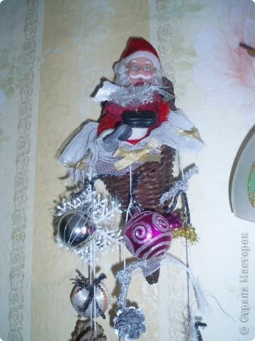 вот такую подвеску я сделала на кухню в Рождество:))) фото 2