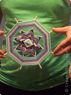 а вот эту мандалу сделала любимому в подарок под цвет обоев, типа в морском стиле фото 1