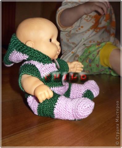 Из остатков связались обновки дочиным куклам) Комбезик для пупса: фото 1