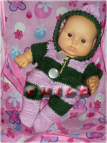 Из остатков связались обновки дочиным куклам) Комбезик для пупса: фото 2