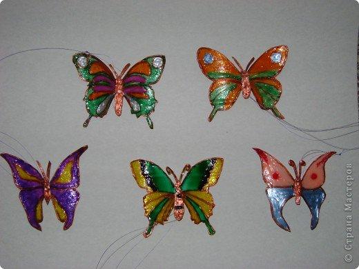 бабочки из пластиковых бутылок фото 1