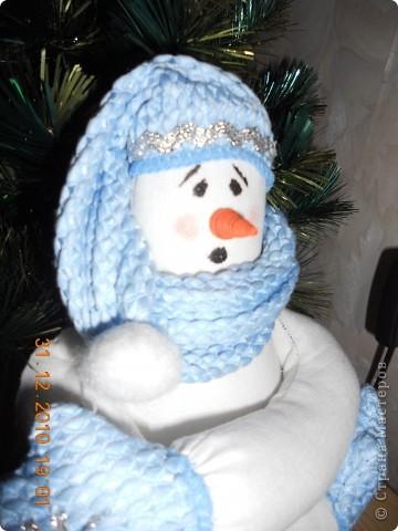 Захотелось по елочку сшить  снеговика. фото 2
