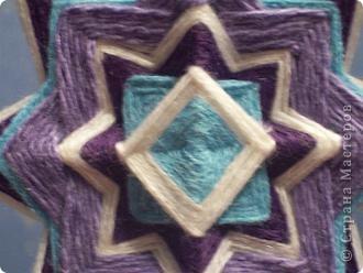 а вот эту мандалу сделала любимому в подарок под цвет обоев, типа в морском стиле фото 3