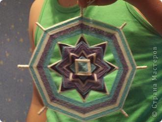 а вот эту мандалу сделала любимому в подарок под цвет обоев, типа в морском стиле фото 2