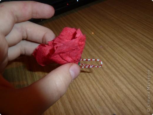 малинкая лёгкая брошка фото 3