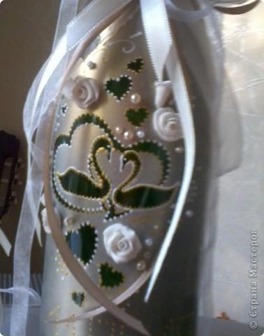 свадебные бокалы и бутылка фото 1