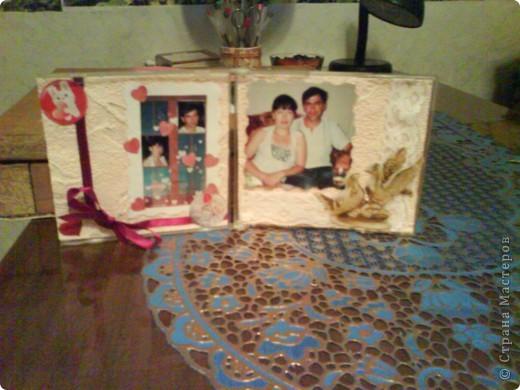 Коробка от диска,обои,бархатная бумага-внешняя сторона рамочки. фото 2