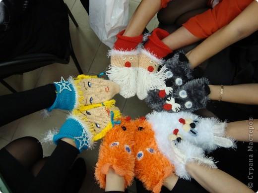 Носочки :Дед Мороз,Снегурочка,кролик,кот и лиса! фото 1