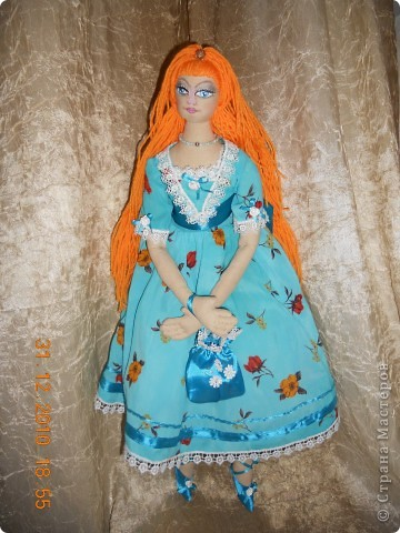 Сшила из ткани куклу принцессу,которая превращается в русалочку в подарок на новый год девочке Сашеньке. фото 1