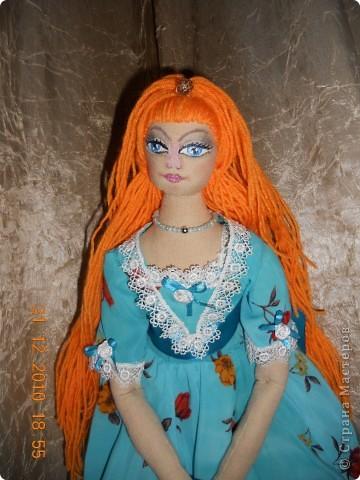 Сшила из ткани куклу принцессу,которая превращается в русалочку в подарок на новый год девочке Сашеньке. фото 3