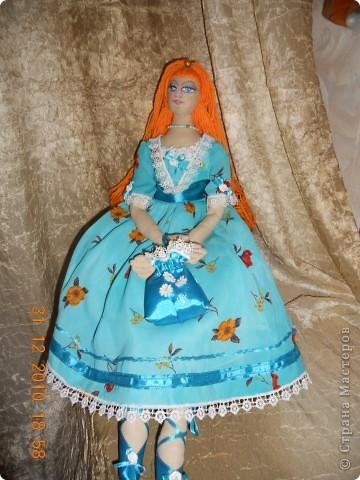 Сшила из ткани куклу принцессу,которая превращается в русалочку в подарок на новый год девочке Сашеньке. фото 2
