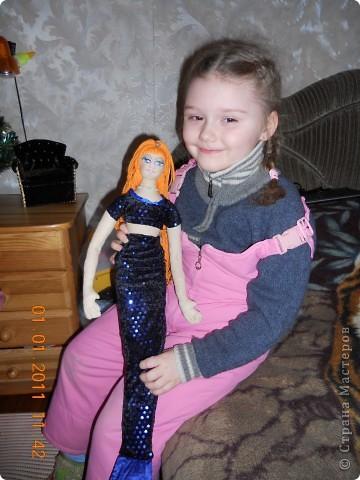 Сшила из ткани куклу принцессу,которая превращается в русалочку в подарок на новый год девочке Сашеньке. фото 6