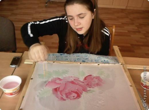 Розочк, одна из лучшых моих работ в батике, но я учусь фото 2