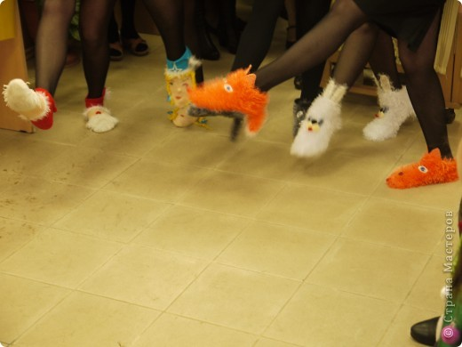 Носочки :Дед Мороз,Снегурочка,кролик,кот и лиса! фото 2