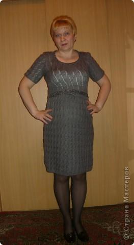Связала за Новогодние каникулы вот такое платье. Даже не ожидала,  что свяжу так быстро...