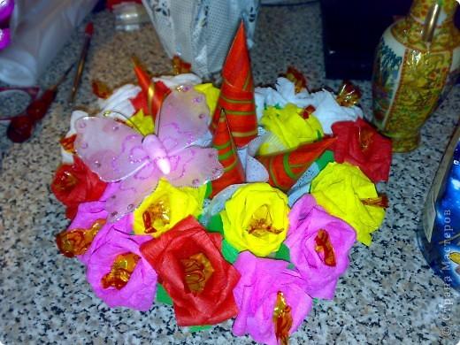 Букеты из конфет фото 2