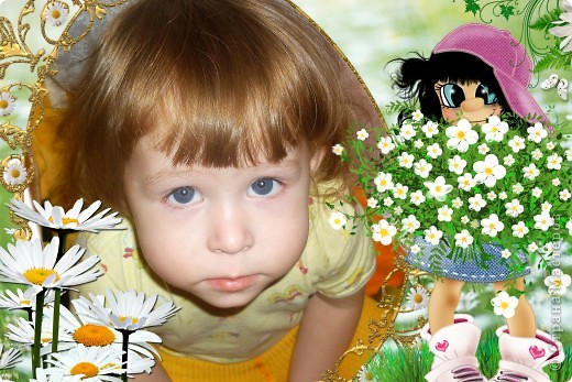 Фотошопом я занимаюсь около года. Это одни из первых моих работ. На фото моя доченька и сынок. фото 2