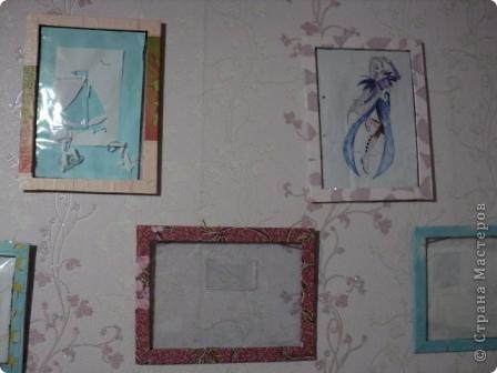 рамки на стене с рисунками фото 1