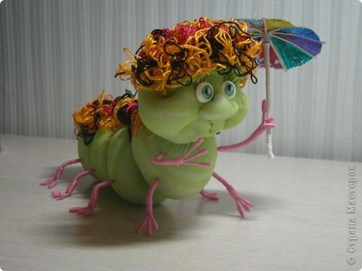 Вот такая получилась у меня гусеничка. фото 1
