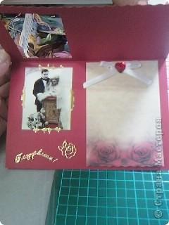Эту открытку я сделала на свадьбу брату мужа. фото 2