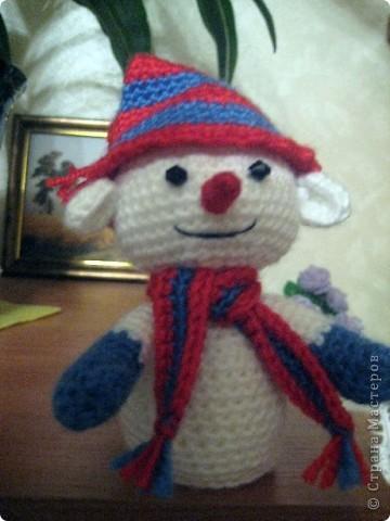 Эти забавные игрушки были подарены моим родственникам на Новый год. Схемы брала вот на этом сайте - http://amigurumi.com.ua/. фото 2