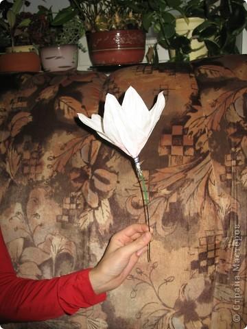 Для создания лилии (три раскрытых цветка и бутон) необходимо нарезать 18 проволочек 0,2-0,3мм по 18 см. каждая фото 17