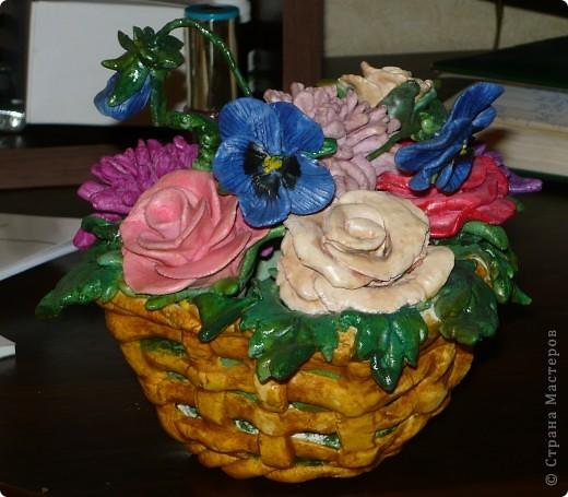 Эту корзиночку я слепила еще осенью и подарила на День рождения сестренке. фото 7